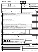 Form It-1040 - Income Tax Return 1998 - Ohio