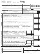 Form It-1040 - Incone Tax Return 1999 - Ohio