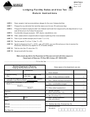 Form Lft - Lodging Facility Sales And Use Tax Return Instructions