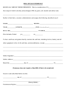 Bill Of Sale For Boat Form - Tennessee