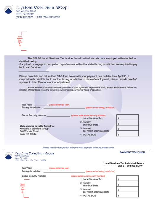 Payment Voucher Form - Keystone Collections Group printable pdf ...