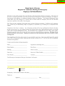 Employee Self Identification Form - Request For Assistance During An Emergency - Department Of Energy