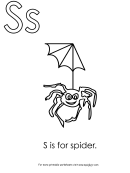 S Is For Spider Template