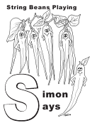 Simon Says Letter S Template