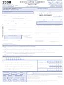 Form Cr-l3 - Business License Tax Return