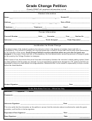Grade Change Petition Form