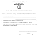 Form Fbt-103 - Cancellation Of Registration Of Foreign Business Trust