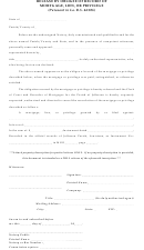 Release By Obligee Of Record Of Mortgage, Lien, Or Privilege Form