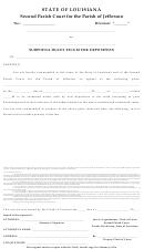 Subpoena Duces Tecum For Deposition - Second Parish Court