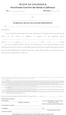 Subpoena Duces Tecum For Deposition - First Parish Court