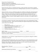 Immunization Exemption Form
