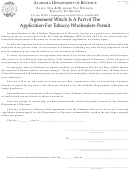 Form Tob-t-agree - Agreement Which Is A Part Of The Application For Tobacco Wholesalers Permit