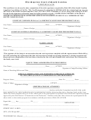 Certificate Template - The Supreme Court Of South Carolina