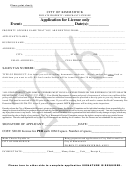 Application For License Form - City Of Kimmswick
