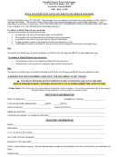 Application For Copy Of Birth Or Death Record Form