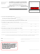 Statement Of Change Of Registered Office Or Registered Agent Or Both Form - Secretary Of State