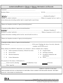 Authorization/denial To Obtain Or Release Information And Records Form