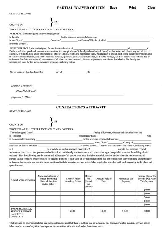 76 lien waiver form templates free to download in pdf for Partial lien waiver template