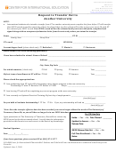 Request To Transfer Out To Another University Form