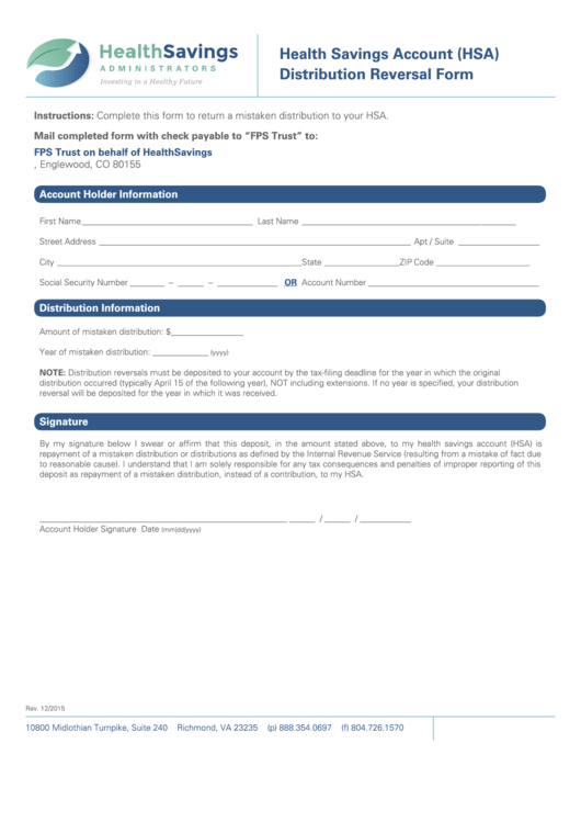 2016 HSA Form 8889 – Instructions and Example | HSA Edge |Hsa Distribution Form