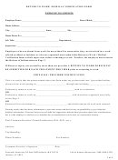 Return To Work-medical Verification Form