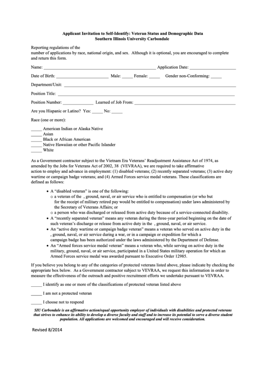 Top Veteran Self Identification Form Templates free to download in ...