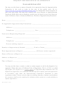 Form Das142 - Request For Dispatch Of An Apprentice