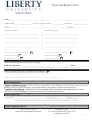 Transcript Request Form - Liberty University Registrar