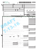 Form 1a Draft - Wisconsin Income Tax - 2016