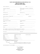 Occupational Tax Regulatory Fee Registration Form
