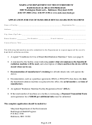 Application For Use Of Hand-held Dental Radiation Machine Form
