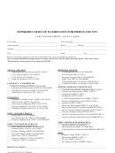 Case Cover Sheet / Civil Cases Form - Superior Court Of Washington For Pierce County