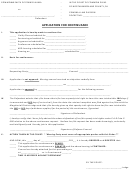 Application For Continuance Form - The Court Of Common Pleas Of Northumberland County, Pa