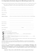 Request For Official Passport And/or Visa Form