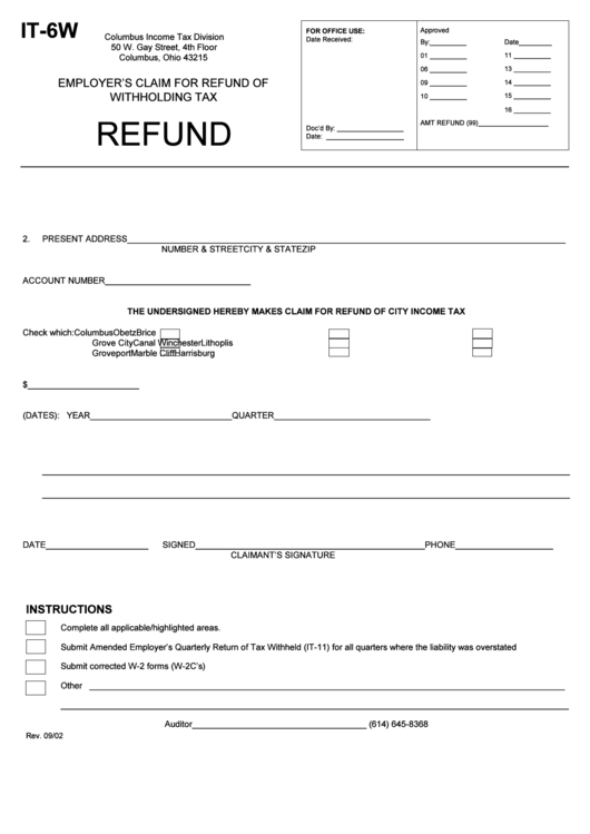 Form It-6w - Employer