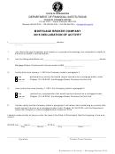 2015 Declaration Of Activity-mortgage Broker Company Form