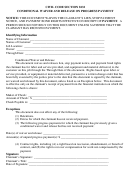 Conditional Waiver And Release On Progress Payment Form