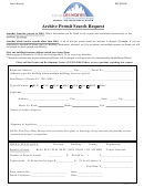 Archive Permit Search Request Form