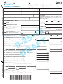 Form 1 Draft - Wisconsin Income Tax - 2013