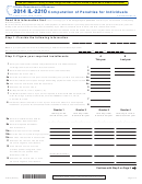 Form Il-2210 - Computation Of Penalties For Individuals - 2014
