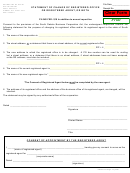 Statement Of Change Of Registered Office Or Registered Agent, Or Both-sd Secretary Of State Form