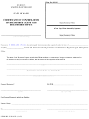 Form Mlpa-3d - Certificate Of Confirmation Of Registered Agent And Registered Office 2004