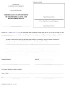 Form Mlpa-3c - Certificate Of Appointment Of Registered Agent And Registered Office 2004