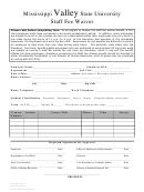 Staff Fee Waiver Form