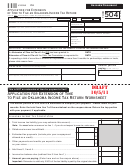 Form 504 Draft - Application For Extension Of Time To File An Oklahoma Income Tax Return - 2011