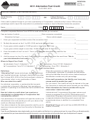 Montana Form Afcr Draft - Alternative Fuel Credit - 2011