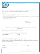 Authorization Agreement Form For Pre-authorized Income Tax Payments - City Of Delaware Income Tax Department