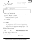 Form Of Application For Special Policy In Lieu Of The Lost Policy