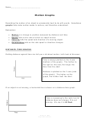 Motion Graphs Worksheet