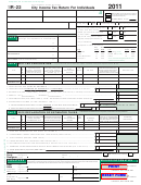 City Income Tax Return For Individuals